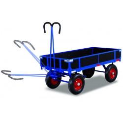 Remorque manuelle avec ridelles, charge 1000 kg