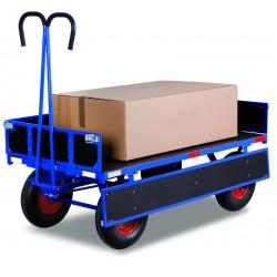 Remorque manuelle avec ridelles, charge 1250 kg