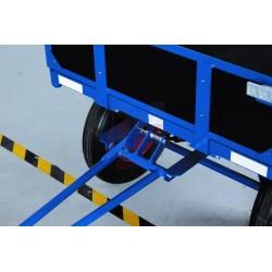 Remorque manuelle avec 2 ridelles, charge 1250 kg