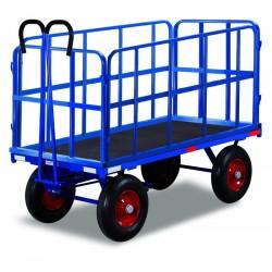 Remorque manuelle avec 4 ridelles, charge 1250 kg