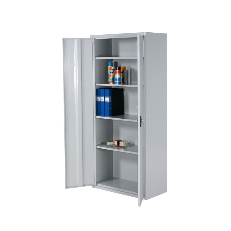 Armoire de rangement 2 portes démontable gris