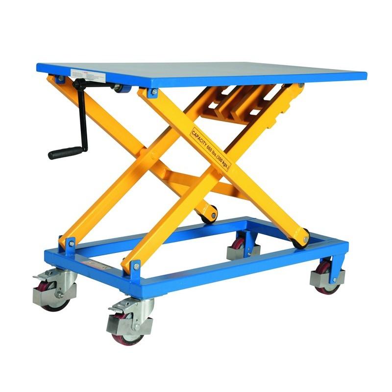 Table élévatrice manuelle, charge 300 Kg