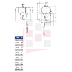 Palans électriques à chaîne YALE MONO