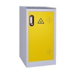 Armoire de sûreté pour produits dangereux basse 1 porte jaune