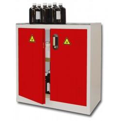 Armoire de sûreté pour produits dangereux basse 2 portes rouge