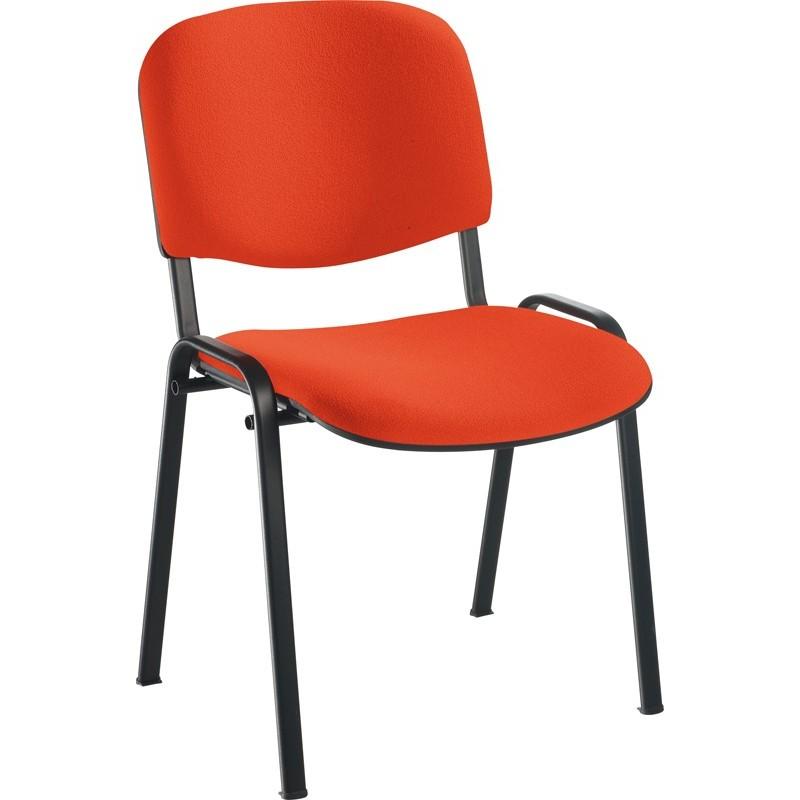 Chaise structure noire, tissu