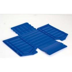 Bac pliant bleu, capacité de 3.2 à 4.8 l