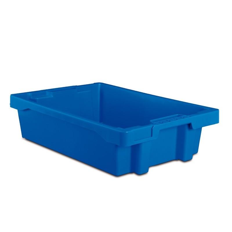 Bacs emboîtables bleu, capacité de 22 litres