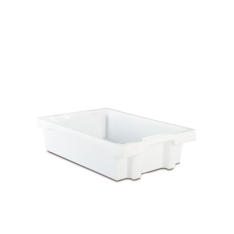 Bacs emboîtables translucides, capacité de 22 litres