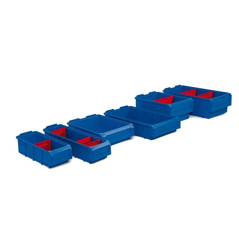 Bacs tiroirs divisibles, capacité de 2 à 9.7 litres