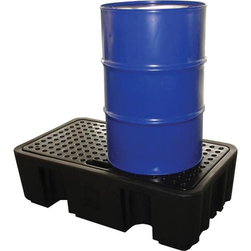 Bac de rétention plastique, capacité de rétention de 250 l