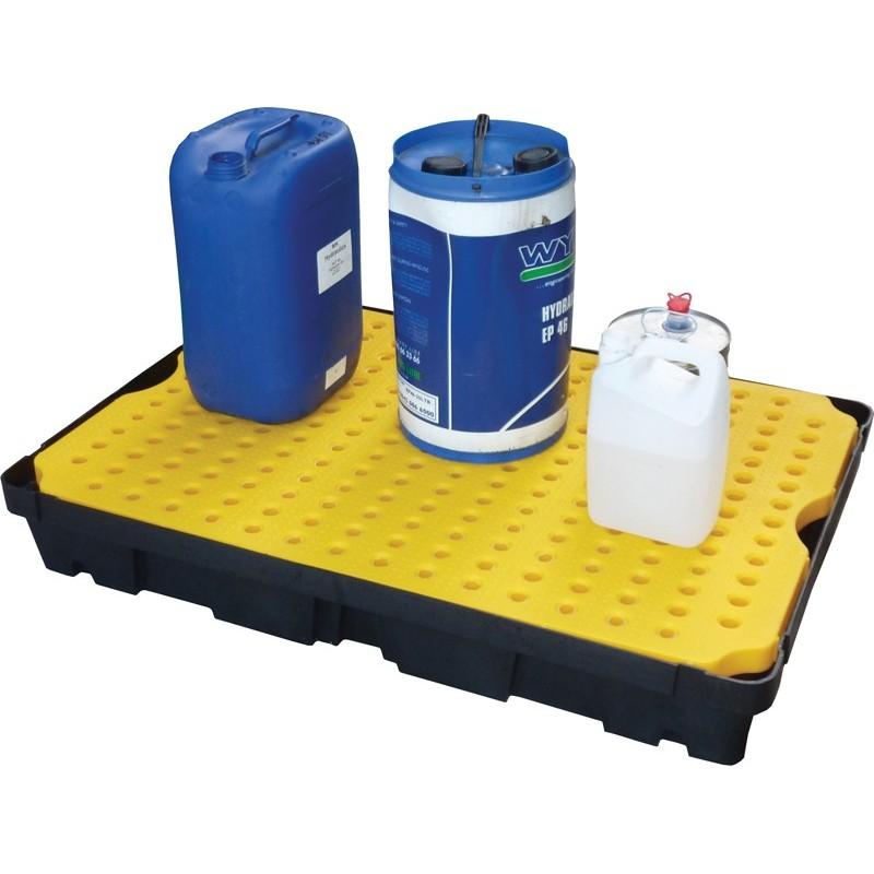 Bac de rétention plastique, capacité de rétention de 20 à 100 l