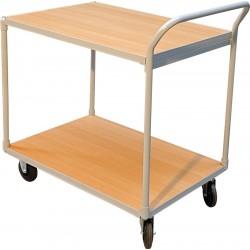 Chariot à plateau, charge 300 kg, 2 plateaux