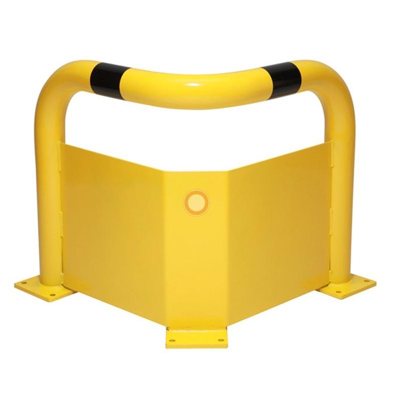 Arceau de protection en coin avec plaque anti-encastrement