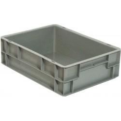 Bacs plastiques Norme Euro, 400 x 300 mm, avec couvercle, 10 litres