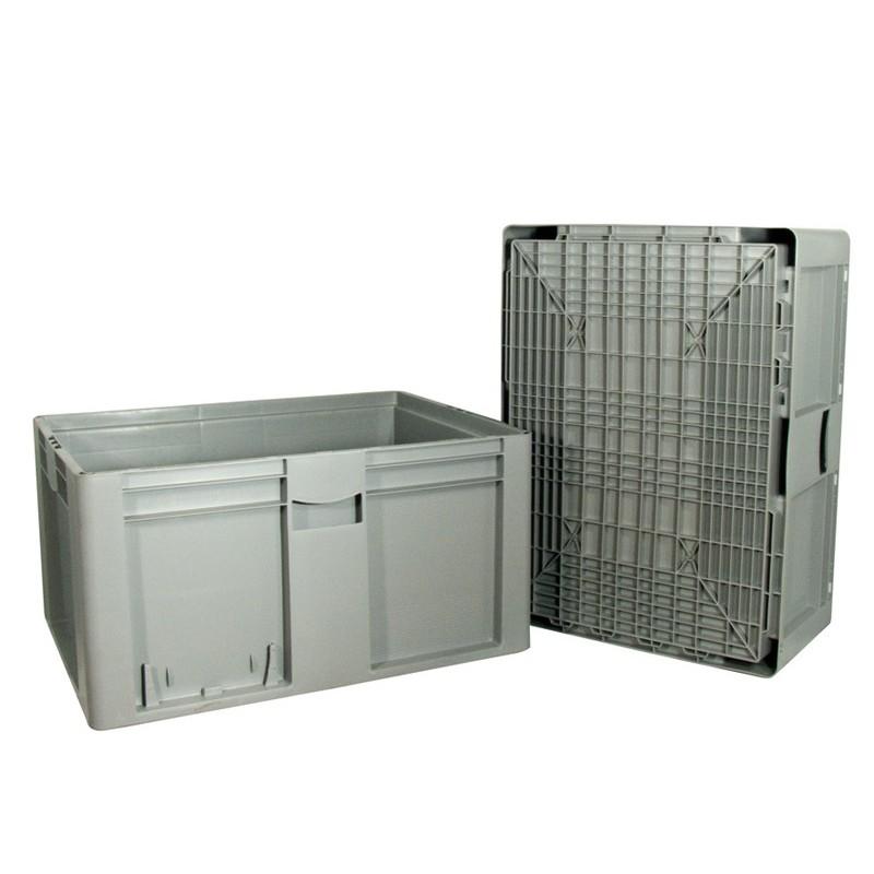 Bacs Plastiques Norme Euro, 800 X 600 Mm, Avec Couvercle, Bacs