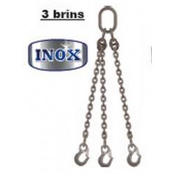 Mètre supplémentaire pour élingue inox à chaîne 3 brins