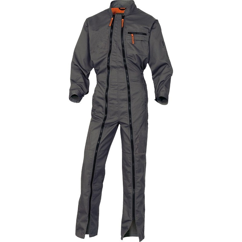 Combinaison 2 zips MACH2 gris/orange