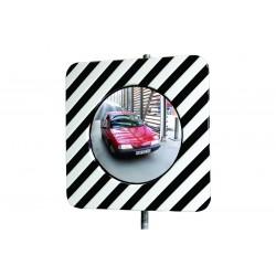 Miroir d'agglomération noir & blanc, rond