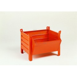 Caisse-palette tôlée à bec, capacité de 600 kg