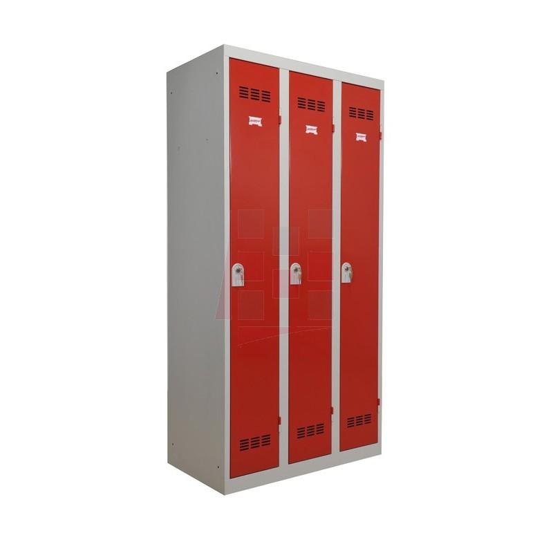 Armoire vestiaire monobloc, industrie propre, 3 cases