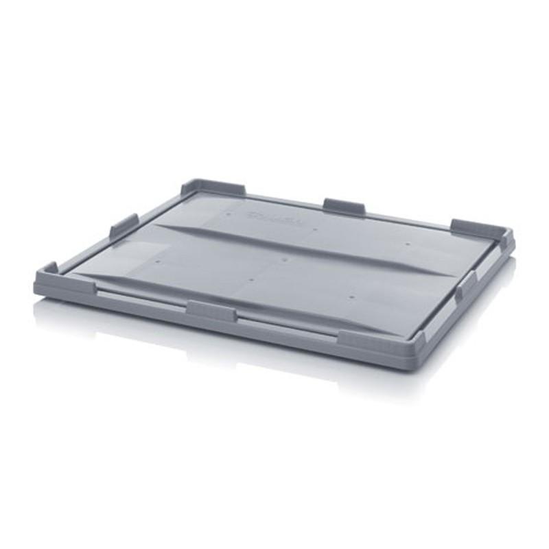 Couvercle pour caisse-palettes empilable plastique, 120 x 80