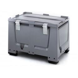 Caisse-palettes plastique avec système de fermeture
