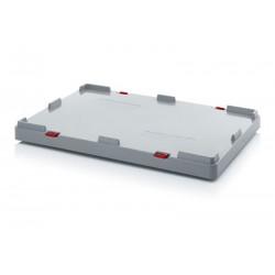Couvercle pour caisse-palettes pliable à grande hauteur