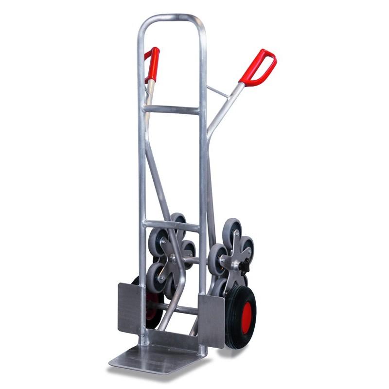 Diable escalier en aluminium avec 2 roues en étoiles à 5 roulettes