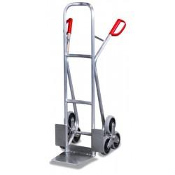 Diable escalier en aluminium avec 2 roues en étoiles à 3 roulettes