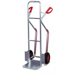 Diables en aluminium et patins plastiques, charge 150 kg