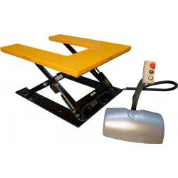 Table élévatrice électrique, charge 1000 Kg