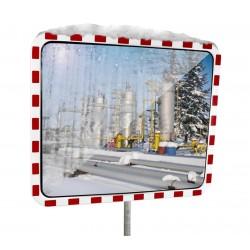 Miroir de surveillance anti-buée/givre rectangulaire