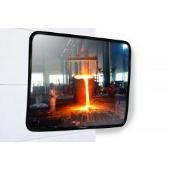 Miroir industriel en inox rectangulaire