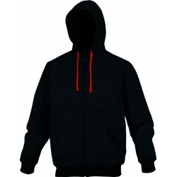 Veste sweat molleton CENTO noir