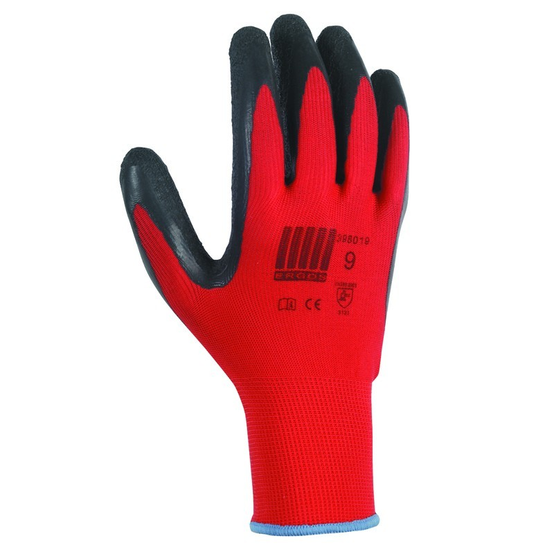 Lot de 12 paires de gants CROSS rouge