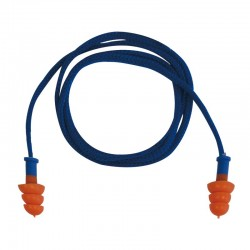 100 paires de bouchons d'oreilles réutilisables en thermoplastique avec cordon, SNR29dB