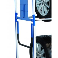 Barre de poussée mobile pour rack à pneus