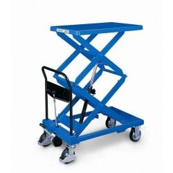 Table élevatrice double ciseaux hydraulique mobile 300 kg O.P.K