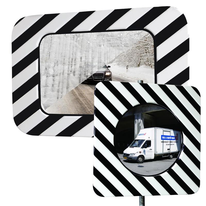 Miroir d'agglomération noir & blanc anti-buée et anti-givre