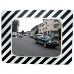 Miroir routier en inox rectangulaire
