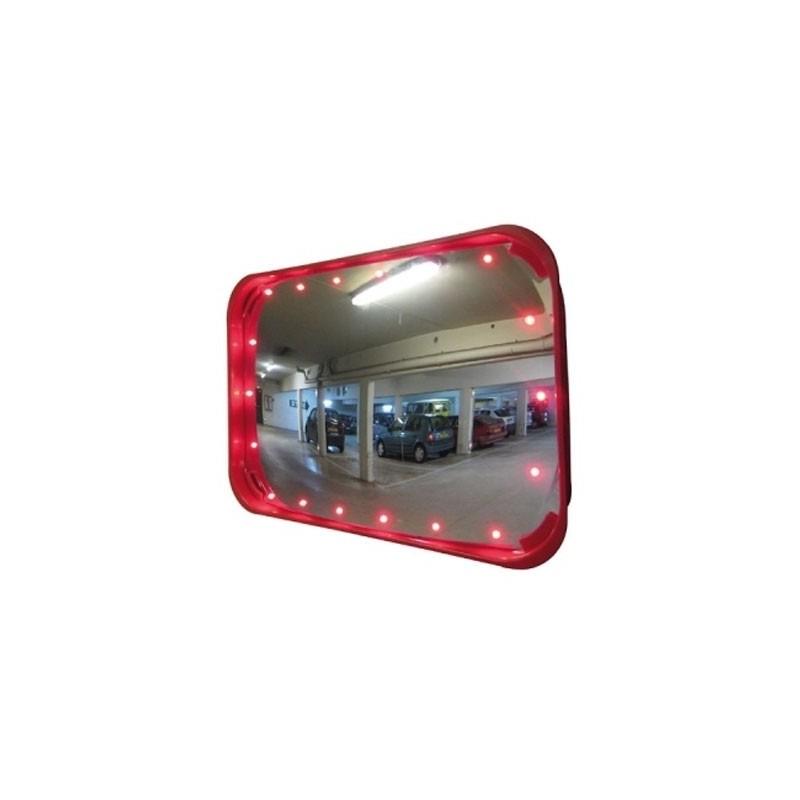 miroir de sortie de parking led miroirs routiers cegequip appareil de manutention et stockage. Black Bedroom Furniture Sets. Home Design Ideas