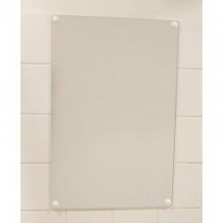 """Miroir plat """"anti-bris de verre"""" sans cadre"""