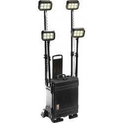 Projecteur RALS PELI tout terrain, 4 têtes d'éclairage, noir