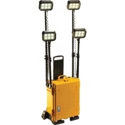 Projecteur RALS PELI tout terrain, 4 têtes d'éclairage, jaune