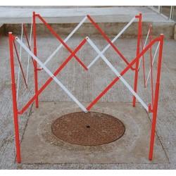 Barrière de regard extensible carré