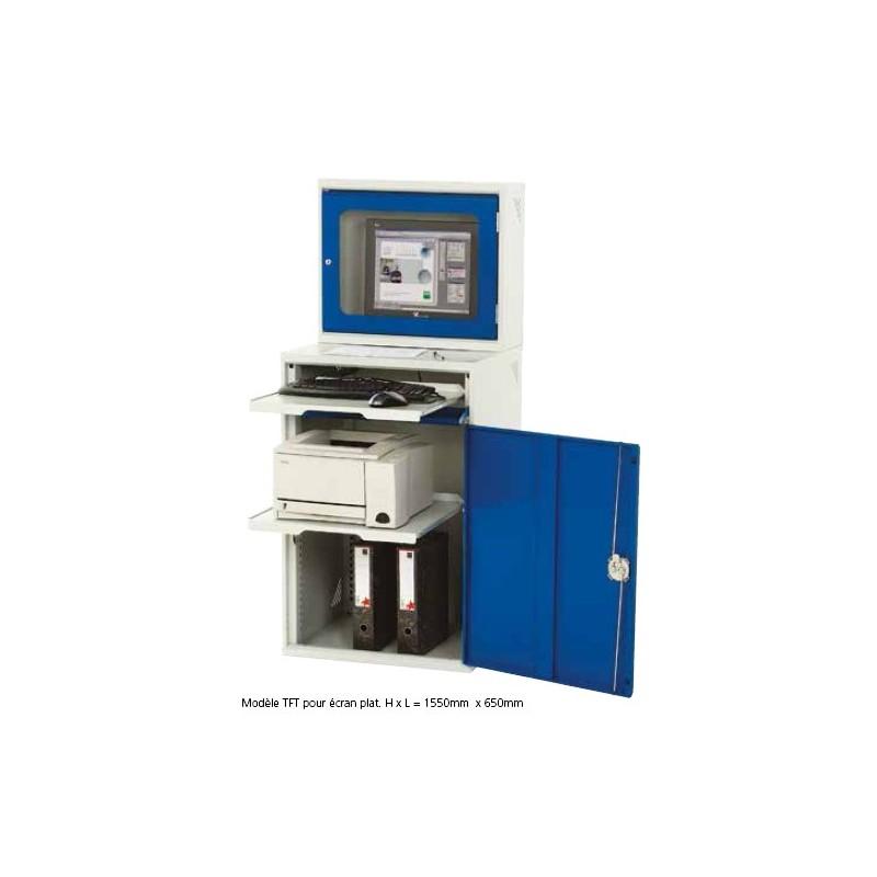 armoire informatique avec caisson de protection cran plat. Black Bedroom Furniture Sets. Home Design Ideas
