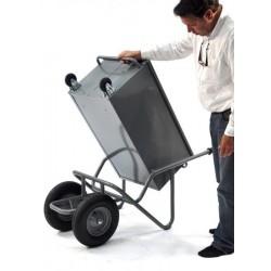 Brouette 2 roues avec boîte à outils basculante