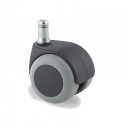 Roulettes d'ameublement TENTE caoutchouc thermoplastique, version pivotante