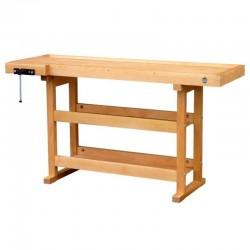 Etabli bois avec 2 étagères